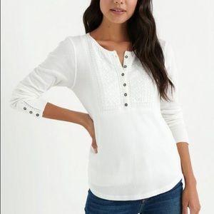 Lucky brand Women novelty bib thermal t-Shirt
